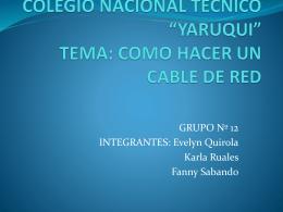 colegio nacional tecnico *yaruqui* tema: como hacer un cable de red