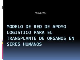 MODELO DE RED DE APOYO LOGISTICO PARA EL