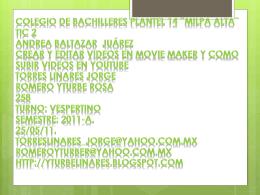 Colegio de bachilleres plantel 14 ¨milpa alta¨ tic 2 Andrea Baltazar