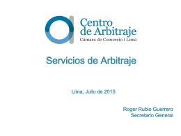 Servicios de Arbitraje Roger Rubio Guerrero Secretario General