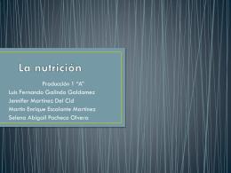 La nutrición expocicion tic.