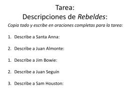 Tarea: Descripciones de Rebeldes: