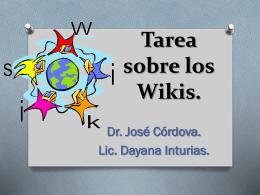 Tarea sobre los Wikis.