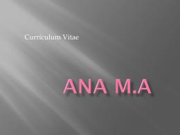 Currículum Vitae - Proyecta y emprende.