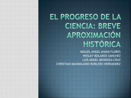 El progreso de la ciencia: breve aproximación histórica