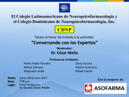 1ra diapo La invitación - Colegio Dominicano de
