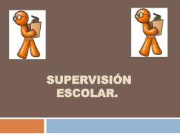 SUPERVISIÓN ESCOLAR