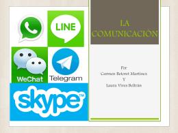 La comunicación. Laura Vives y Carmen Betoret.