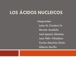 Los ácidos Nucleicos - SCIENCE