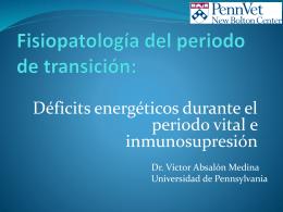Fisiopatología del periodo de transición:
