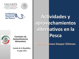 María Teresa Gaspar Dillanes, sobre pesquerías en