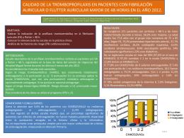 calidad de la tromboprofilaxis en pacientes con fibrilación auricular