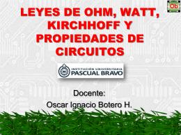 PROPIEDADES, LEYES DE OHM Y KIRCHHOFF - san-rafael-ob