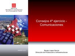 Comunicaciones para el cuarto ejercicio. Sergio López.