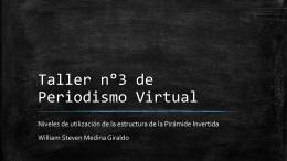 Taller n°3 de Periodismo Virtual
