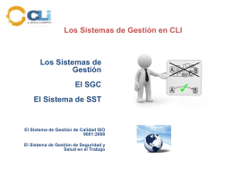 CLI Gestiones Aduaneras Sistema de Gestión Integrado