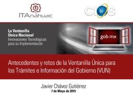 150507a Javier Chavez VUN - Avisos de Interés a la Comunidad