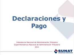 Declaraciones y Pago