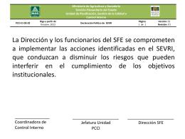 PCCI-CI-DE-02 Declaración Política del SEVRI