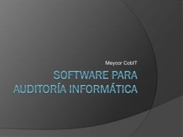 Software para auditoría informática