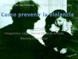 como prevenir la violencia presentacion - tic