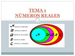 TEMA 1: NÚMEROS REALES