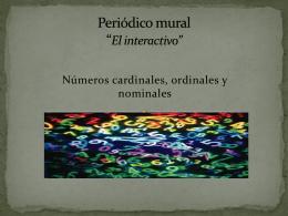 Números cardinales, ordinales y nominales