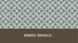 Numeros Ordinales