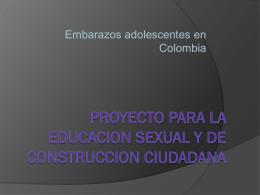 proyecto para la educacion sexual y de construccion