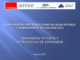 ministerio de medio ambiente y agua Plan Maestro Metropolitano de
