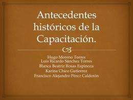Antecedents históricos de la Capacitación (5500243)