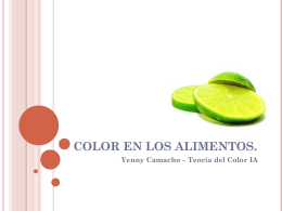 COLOR EN LOS ALIMENTOS. - TCOLOR-GA2011-2