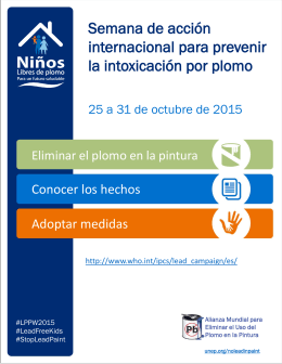 International Lead Awareness Week 2015