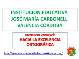 institución educativa josé maria carbonell valencia córdoba