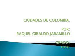 CIUDADES DE COLOMBIA 10°A