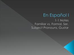 En Español I