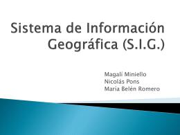 Sistema de Información Geográfica (G.I.S.)