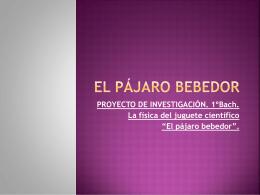Pájaro Bebedor - Universidad de Extremadura