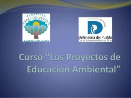 """Curso """"Los Proyectos de Educación Ambiental"""""""