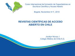 revistas científicas de acceso abierto en chile