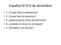 Español IV-El 6 de diciembre