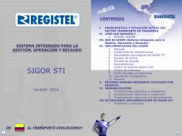 sistema integrado para la gestión, operación y recaudo