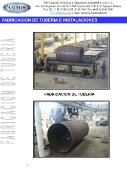 fabricacion de tuberia e instalaciones