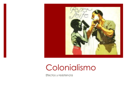 Colonialismo - Spanish for action
