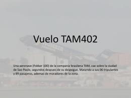 Vuelo TAM402 - InvestigacionGrado