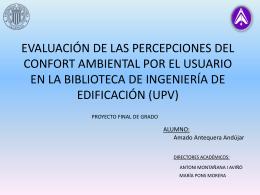 evaluación de las percepciones del confort ambiental por