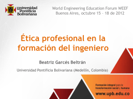 Curso de ética profesional para ingenieros