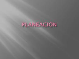 PLANEACION Planeación