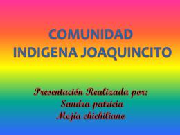 COMUNIDAD INDIGENA JOAQUINCITO