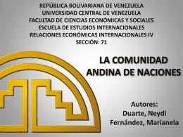 LA COMUNIDAD ANDINA DE NACIONES - rei4-ucv-eei